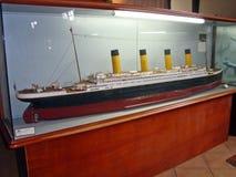 Small-scale replica of the Titanic Stock Photo