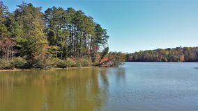 Lake Thom-A-Lex. A small but scenic lake located in Davidson County, North Carolina, the name comes from the towns of Thomasville and Lexington, the two cities stock photo