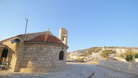 Small scenic old byzantine church stock video footage