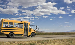 Small school bus Royalty Free Stock Image