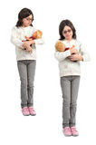Girl with doll Stock Photo