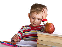 Small schoolboy Royalty Free Stock Images