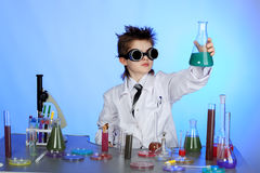 Small scientist Stock Photography