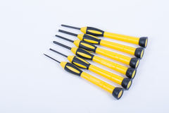 Small screw driver set Royalty Free Stock Image