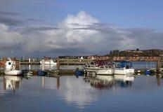 Fishing boats at bay Royalty Free Stock Image