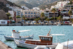 Small sea port of Aghia Galini at southern part of Crete island, Greece Royalty Free Stock Photography