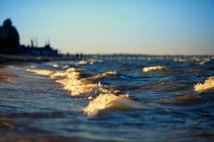 Small sea waves Stock Photography