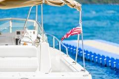 Small sea yacht closeup Stock Image