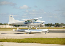 Small seaplane Royalty Free Stock Images