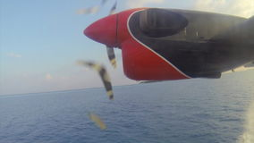 Small seaplane takeoff in the Maldives. Timelapse stock video
