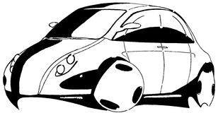 Small sedan. Hand drawn small sedan car Royalty Free Stock Photography