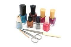 Small selection of nail polishes Royalty Free Stock Photo