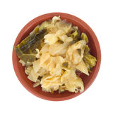 Small serving of cooked cabbage Royalty Free Stock Photography