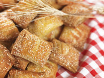 Small sesame cheese pies Royalty Free Stock Photos