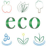 Small set of environmental icons Stock Image