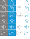 Small set of icons for e-shops vol.4 Royalty Free Stock Image