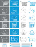 Small set of icons for e-shops vol.5 Royalty Free Stock Photography
