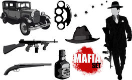 Small set of mobsters Stock Photos