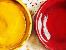 Red and yellow watercolors royalty free stock image