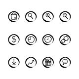 A small set of web buttons Royalty Free Stock Photography