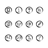 A small set of web icons Stock Image