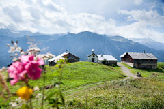 Small Settlement In The Alps Royalty Free Stock Photos