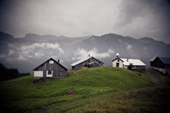 Small Settlement In The Alps Stock Photos