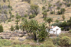 Small settlement on Gomera island, Spain Royalty Free Stock Photography