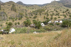 Small settlement on Gomera island, Spain Stock Photo