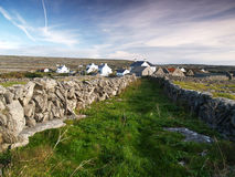 Small settlement at Inishmore Stock Photography