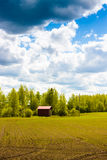 Small Shed By The Fields Royalty Free Stock Photography