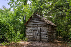Small Shed in the Forest. Small storage shed in the botanical gardens. 3 captures in HDR Royalty Free Stock Photos