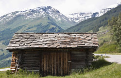 Small shed in Hohe Tauern Park, Austria Stock Image