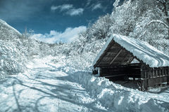 Small shelter at country Royalty Free Stock Photo