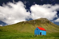 Small shelter on a hill Stock Images