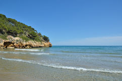 Small sheltered bay in Salou Royalty Free Stock Photo