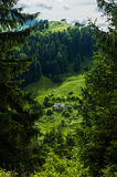 Small shepherd hut on the hillside Royalty Free Stock Images
