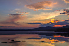 Small shihe reservoir sunset Stock Images
