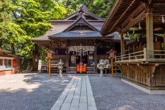 Small shinto shrine on the way to Chureito Pagoda royalty free stock photography