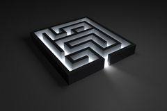 Small shiny maze Royalty Free Stock Image