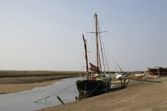 Small ship with masts Royalty Free Stock Photo