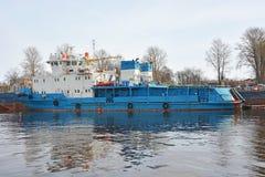 Small ship on the Neva river Royalty Free Stock Photos