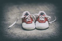 Small Shoes. A pair of small shoes. with a classic feel retouch Stock Photos
