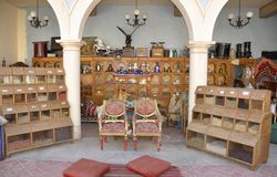 Small shop with ancient items. In Egypt Royalty Free Stock Images