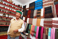 Small Shop Owner Indian Man At His Souvenir Store Stock Photos
