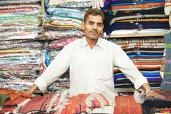 Small shop owner indian man at his souvenir store Stock Photography