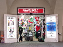 Small shop in Prague Stock Images