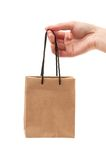 Small shopping bag Stock Images