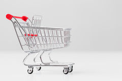 Small shopping cart Stock Image