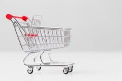 Small shopping cart Stock Image